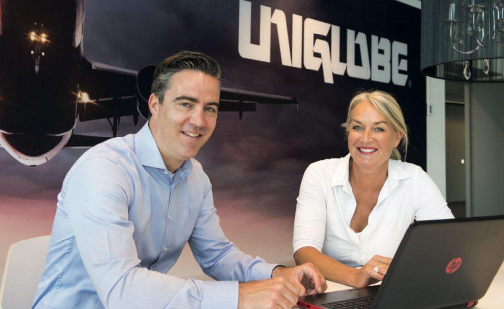 Rob Jansen en Anita van Maanen geven al meer dan 10 jaar leiding aan UNIGLOBE Alliance Travel. Sinds kort vanuit een gloednieuw pand in Rotterdam.